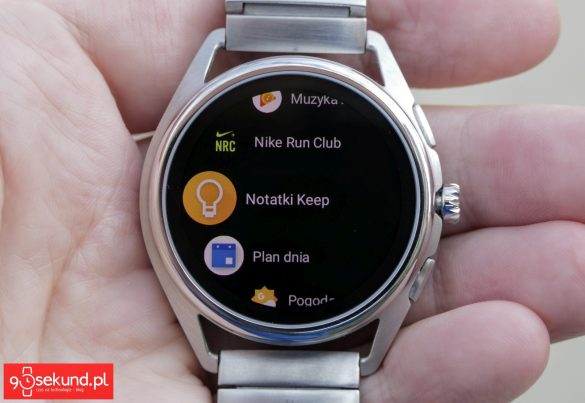 Menu aplikacji - smartwatch Emporio Armani Connected - Michał Brożyński - 90sekund.pl